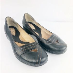 Clarks Artisan Loafers Womens 8.5 M Black Leather